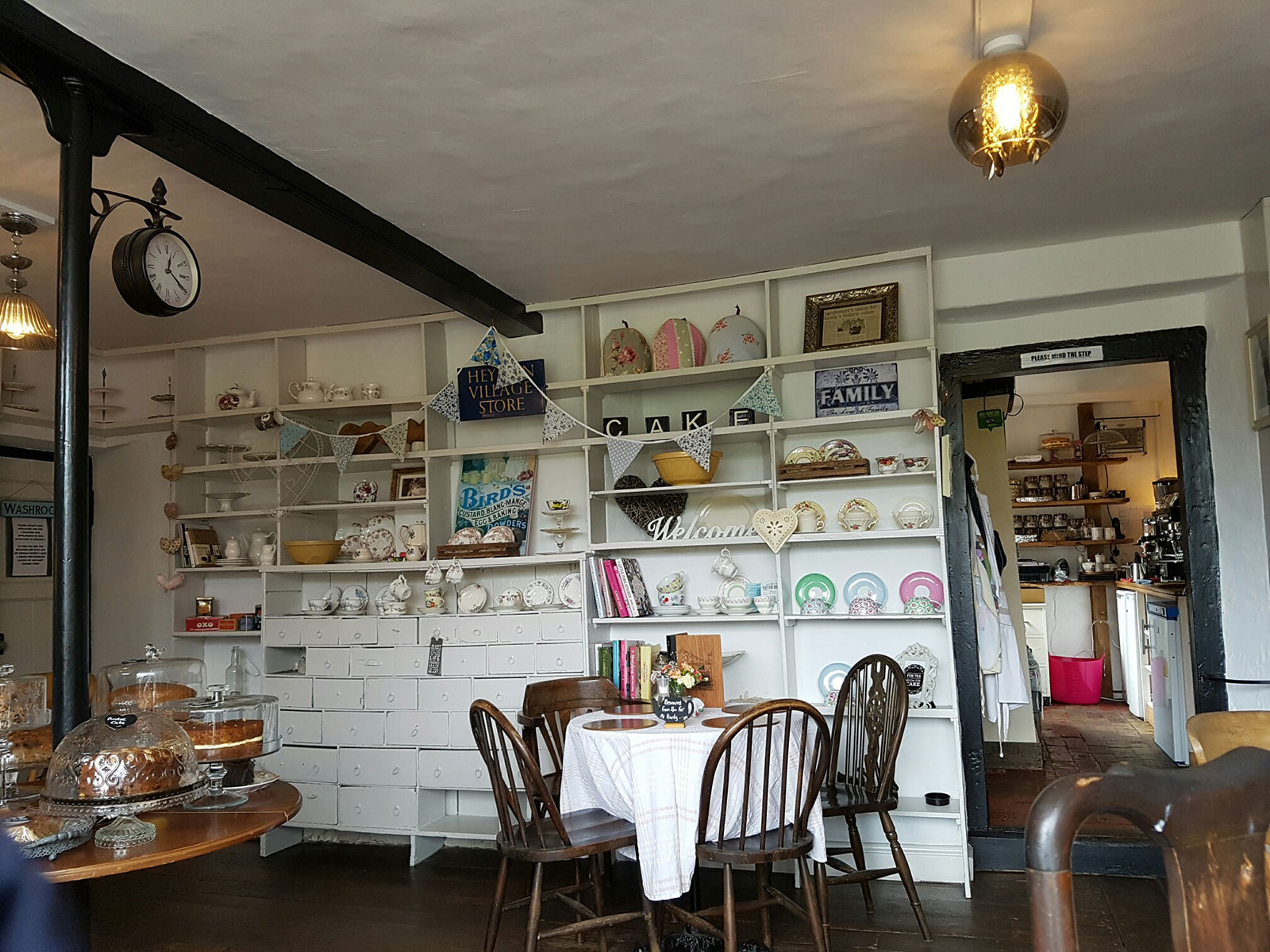 Inside Local Tea Shop at Heydon
