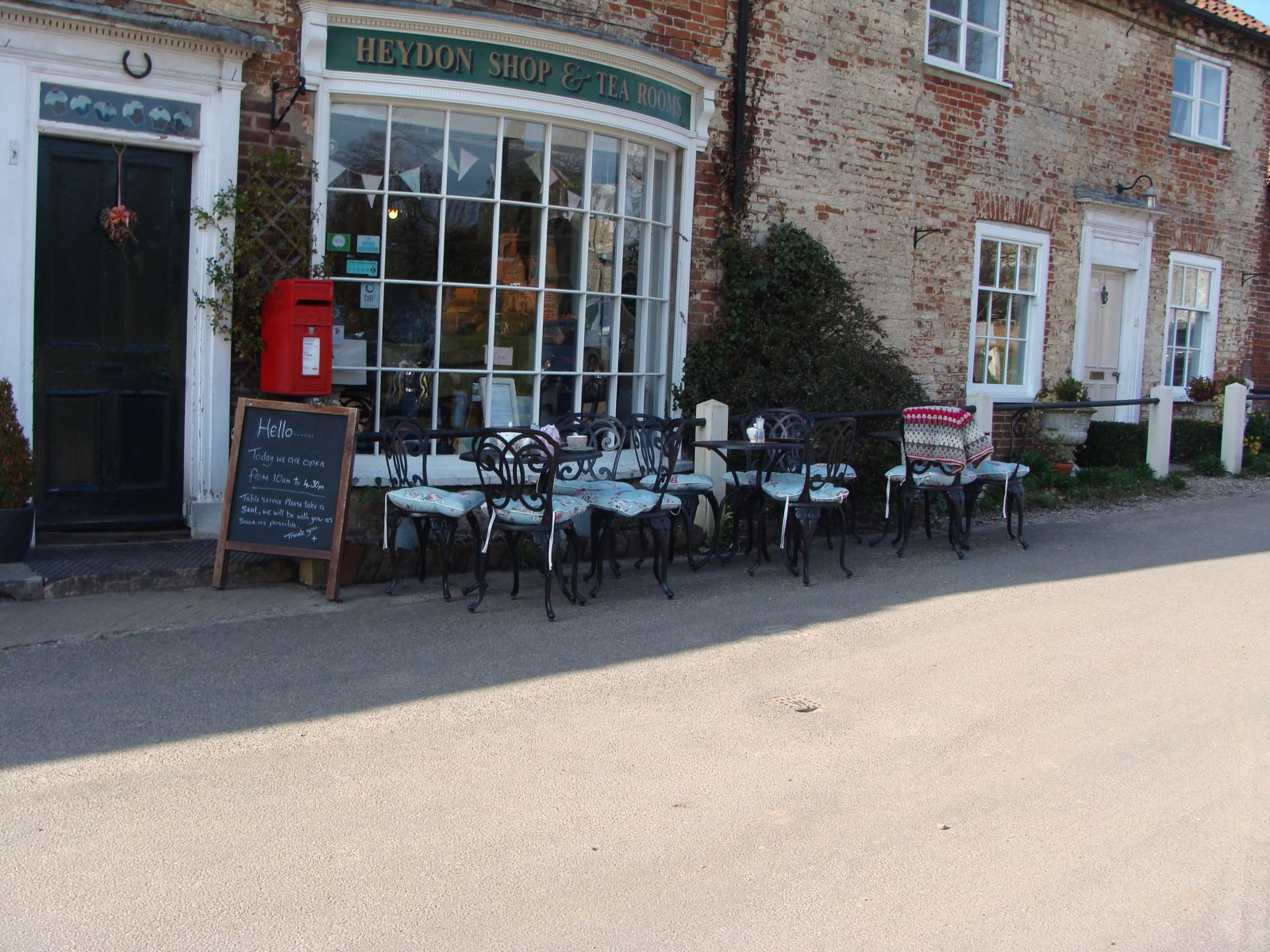 Outside View of Local Tea Shop at Heydon